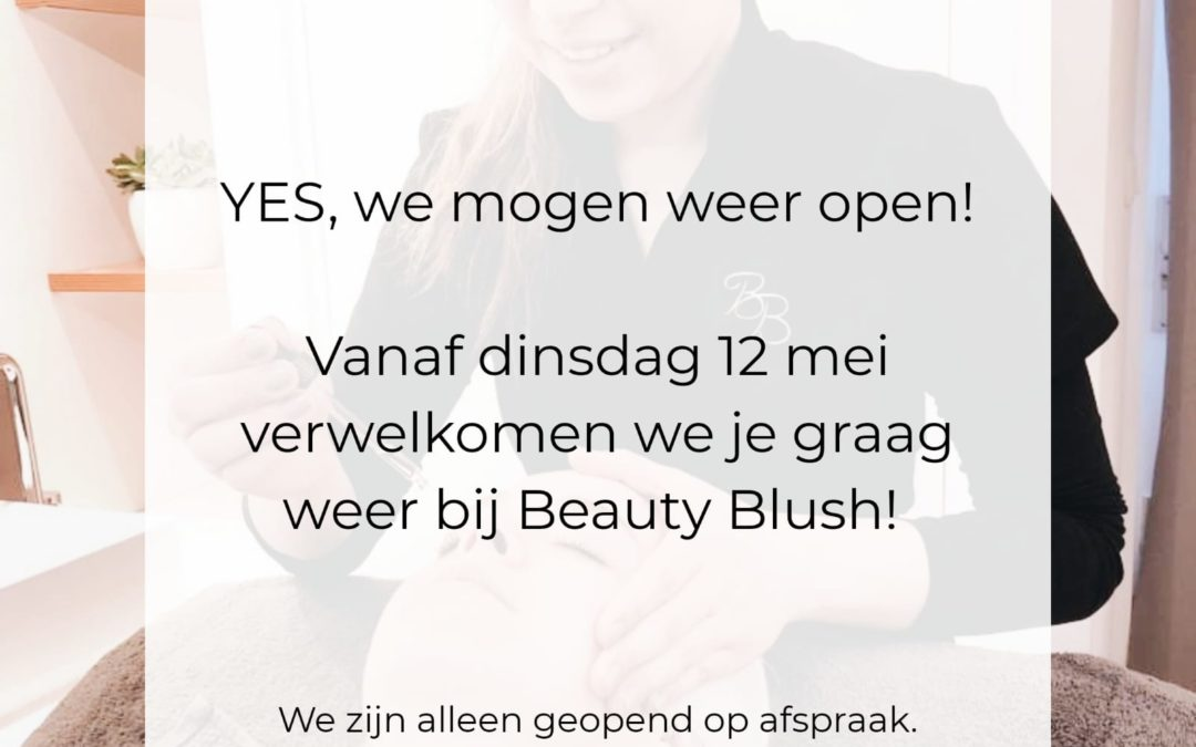 Yes! We gaan weer open!